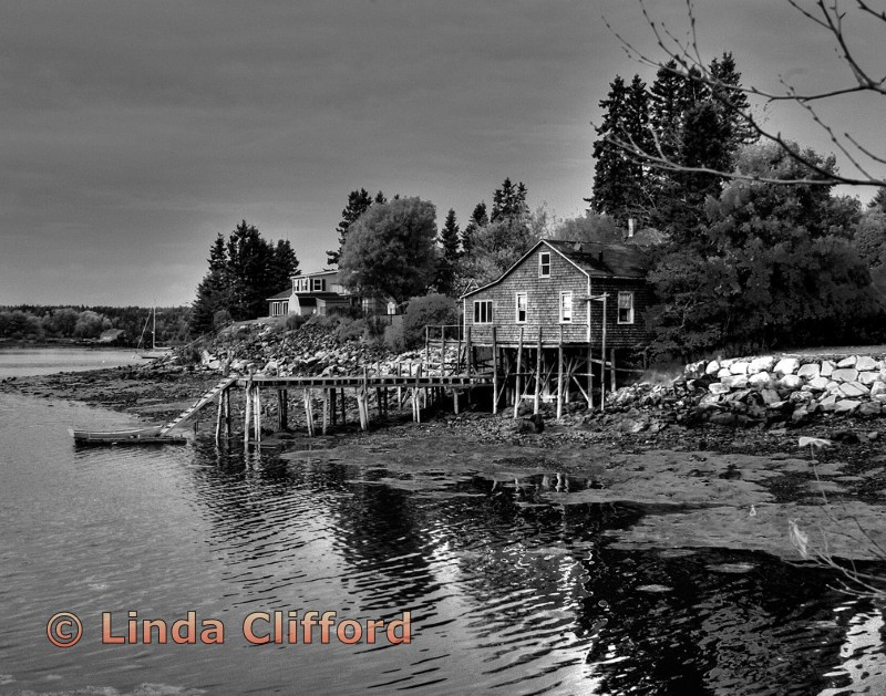 Fishing Village in Maine