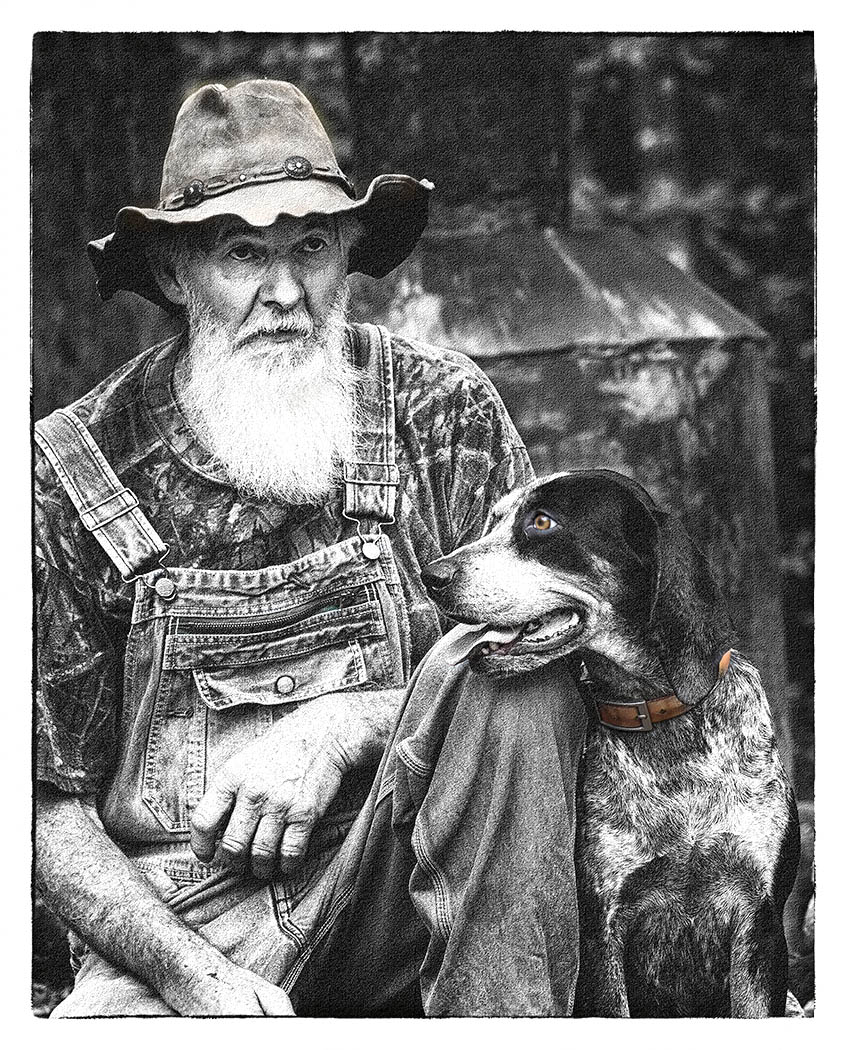 Man and DogBW