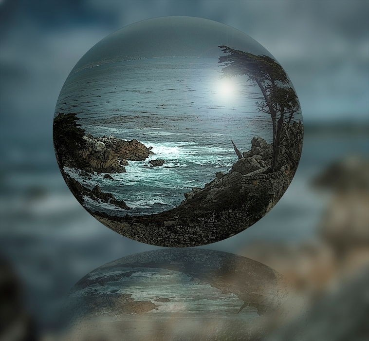 Lone Cypress in a Crystal Ball