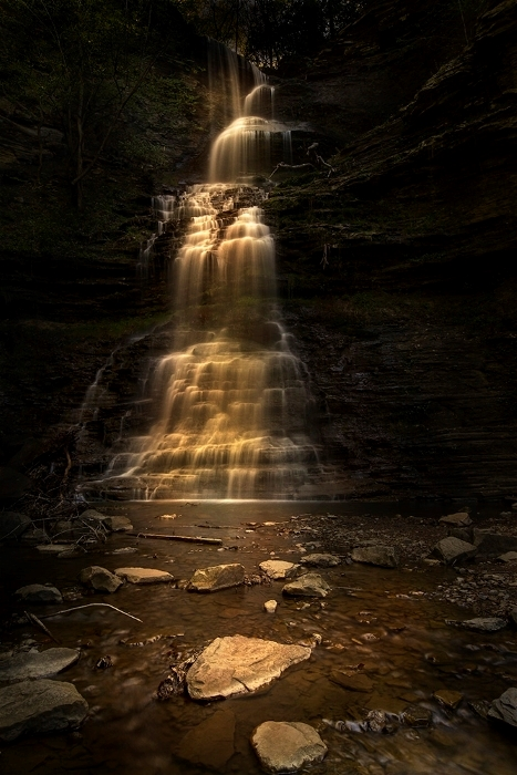 Waterfall Light Painting