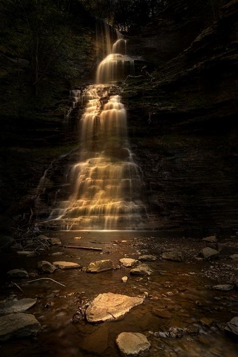 Waterfall Light Painting