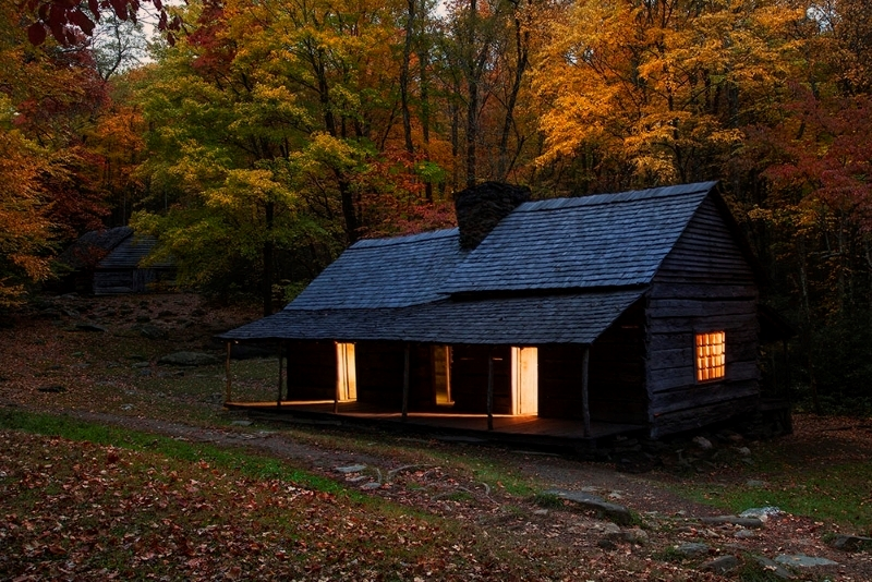 Cabin and Barn