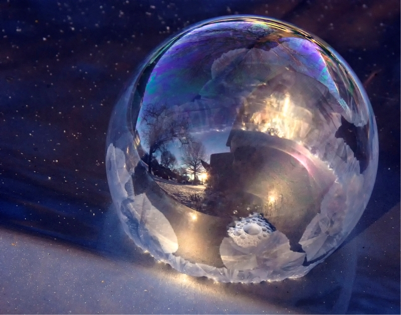 My Neighborhood in a Soap Bubble