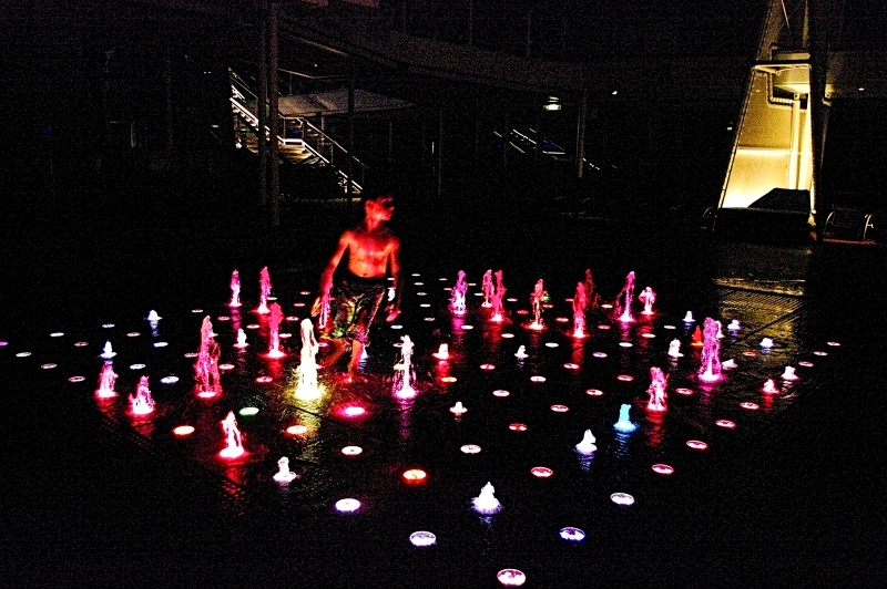 Lighted Fountains