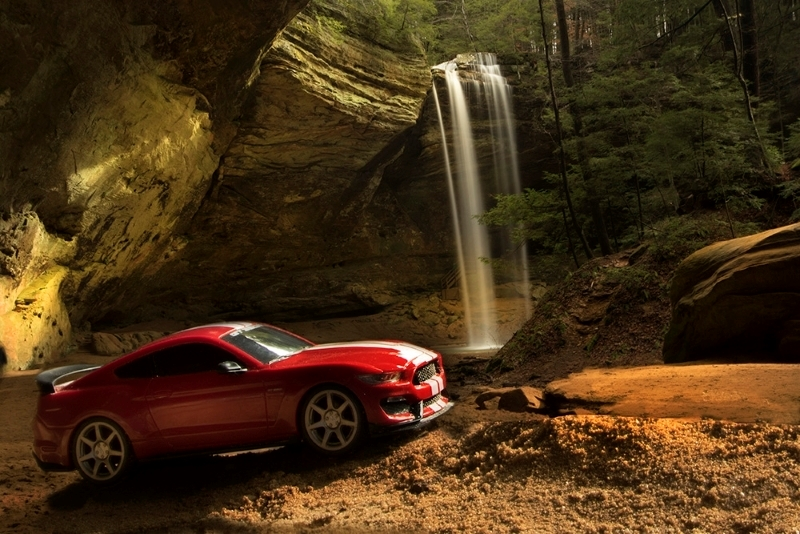 Mustang at Falls