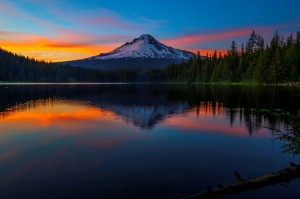 Blue Hour Trillium Lake