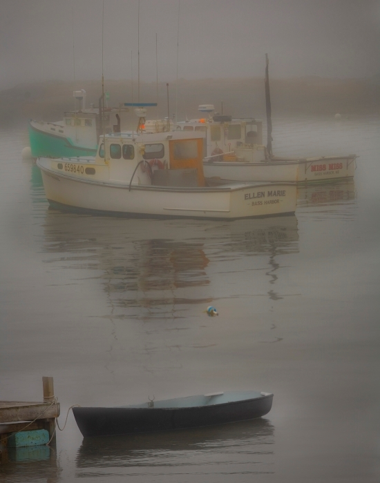 Harbor in Fog