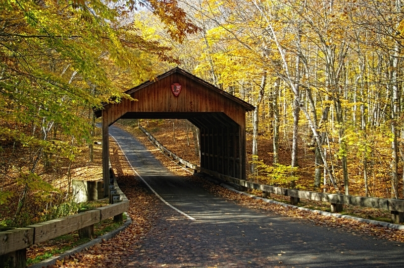 Sleepy Bear Dunes Covered Bridge