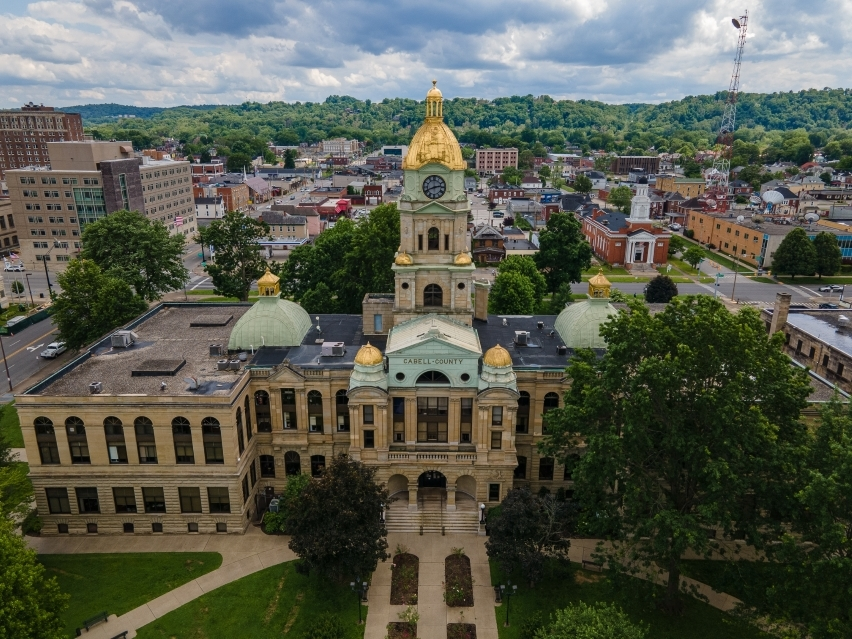 Cabell County Courthouse by Drone